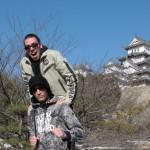 devant le château de Himeji