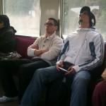 dans le train, en pleine méditation